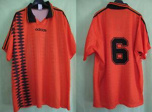 Maillot Adidas Vintage Laval porté #6 Jersey football 90'S Orange - XL