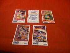 Sonic the Hedgehog Sega Game Gear Genesis 5 Tip Card Lot RARE Chaos 3 Spinball