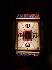 Heileman's Old Style Beer Clock Lighted Sign 1970s
