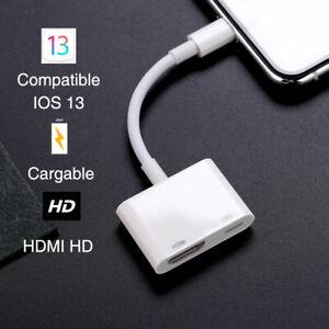 Adaptador HDMI para iPhone, adaptador AV digital 1080P HDTV Cable HDMI (Blanco)