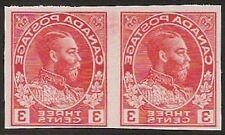 S515) Canada George v.Samples Waagr Pair Canada King George 2 Proofs Orange
