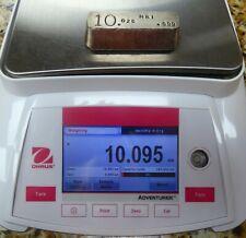 10 oz .999 Fine Silver Hand Poured Bar MRI Brand - b