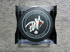 DEVAN DUBNYK Minnesota Wild SIGNED Autographed Official Game Puck w/ COA