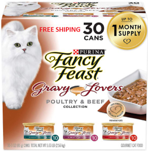 Fancy Feast Gravy Lovers Poultry & Beef Feast Collection Wet Cat Food Variety