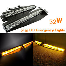 32LED Emergency Warning Strobe Visor led Light Split Mount Deck Dash Lightbar