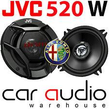 Alfa Romeo GTV 1994 - 2005 JVC 13cm 520 Watts Rear Door Car Speakers & Brackets