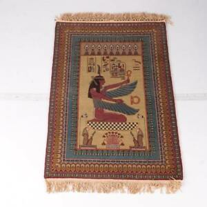 "Hand-Knotted Egyptian-Style ""Isis"" Pictorial Wool Accent Rug...REDUCED...nice"
