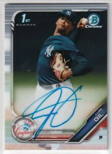 2019 Bowman Chrome Prospect Autographs #CPALGI Luis Gil AUTO - New York Yankees
