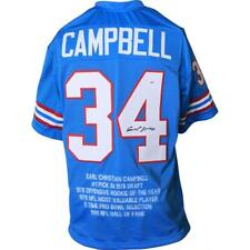 EARL CAMPBELL Signed/Auto Autographed JERSEY HOUSTON OILERS BLUE STAT PSA/DNA