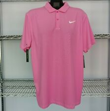 NEW! Nike Men's Dry Fit Golf Polo Athletic SS Shirt - Size S-2XL, Pink/Teal