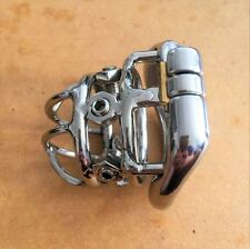 "S072 Six Points Stainless Steel Male Chastity Cage Device- Large 2.25"" Ring"