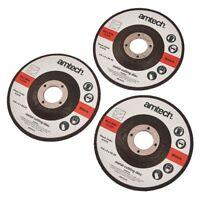 AMTECH 3pc 22.23 x 3 x 115mm 4.5'' METAL BOLT CUTTING DISC GRINDER CUTTER BLADE