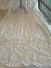 KN2 bridal/wedding dress lace fabric sold by 1 yard