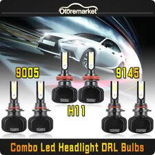 H11 9005 LED Headlight Hi Low Beam+Fog Light 9145 9140 for 15-17 Ford F-150 360W