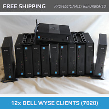 LOT - 12x Dell Wyse 7020 Thin Clients - 2GB DDR3 - 8GB SATA Flash - with Stand