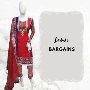 BARGAIN LAWN Pakistani Readymade BE2416 RED