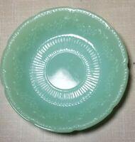 "Vintage Fire King Jadeite Alice Floral Pattern Scalloped Edge Saucer 6"""