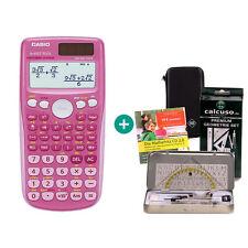 Casio FX 85 GT Plus Pink Taschenrechner + Schutztasche GeometrieSet Lern-CD