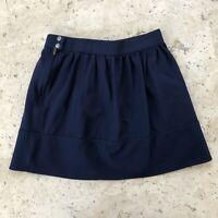 Madewell Ponte Swivel Mini Skirt Size 0 Navy EUC