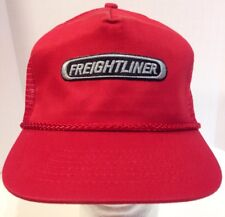 Vintage Freightliner Rope Braid Mesh Back Red Trucker Snapback Hat Cap