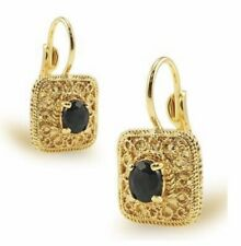Gorgeous 1.0 TCW Sapphire Earrings with 18k Yellow Gold