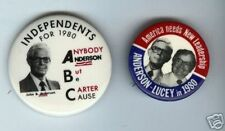 1 JOHN ANDERSON 1980 campaign pin THIRD party #A ( SALE is for ONLY ONE pinback)