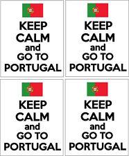 Keep calm et aller au portugal-portugais/europe x 4 vinyle autocollants 14cm x 9cm