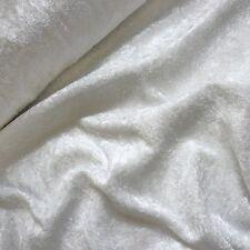 White Crushed Velvet Velour Fabric - Gothic - Bridal - Christmas (Per Metre)