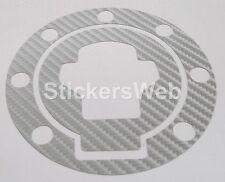 Adesivo Tappo Serbatoio SUZUKI GSXR 1300 Hayabusa 99-05 (Carbonio Argento) C.518