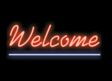 "New Welcome Open Shop Cub Party Light Lamp Wall Home Decor Neon Sign 17""x14"""