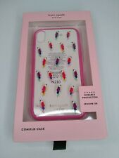 Kate Spade Jeweled Multicolor Parrot XR iPhone Case Cover Clear Pink