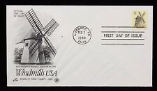 1980 FDC English Smock Windmill Canceled in Lubbock TX 15c Stamp #1741
