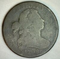 1798 Draped Bust Copper Large Cent OLD 1c Penny S 182 Variety Circulated Coin