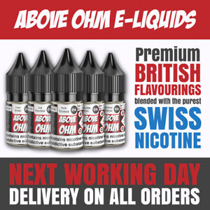 Above Ohm 10ml E-liquid | 3mg, 6mg, 12mg & 18mg | NEXT WORKING DAY DELIVERY