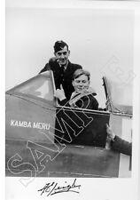 SPBB05 WWII WW2 RAF Battle of Britain pilot LEIGH DFC hand signed photo