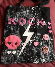"Skulls shopping bag Claires ""Rock"" chick tote"