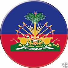 5 x sticker 5cm auto moto velo valise pc portable drapeau Rond Haïti Haiti