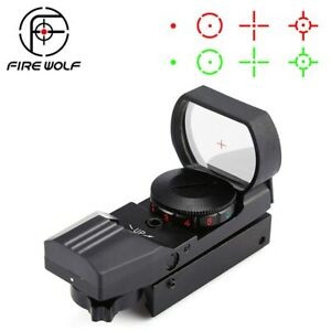 Hot 20mm/11mm Rail Riflescope Hunting Optics Holographic Red Dot Sight Reflex 4
