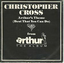 "CHRISTOPHER CROSS"" Arthur's theme / Minstrel gigolo"" 7"" ITALY PRESS"