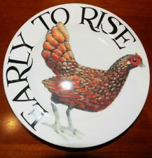 """EMMA BRIDGEWATER RISE & SHINE EARLY TO RISE 6.5"""" PLATE 1ST QUALITY"""