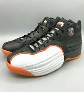 New Jordan Jumpman Team 1 Black White Orange Basketball CU0681-008 Men's Size 14