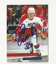 93/94 Ultra Autographed Hockey Card Ted Crowley Team USA CL