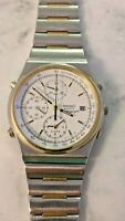 Vintage Seiko 7T32-7A2A Stainless Steel Two Tone Men's Quartz Watch (For Parts)