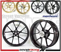 Cerchi Marchesini Alluminio Forgiato Neri Wheels KAWASAKI NINJA 250 R 08 > 12