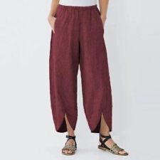 Cotton Linen Capri Pants for Women Trousers Loose Casual Women Harem Pants Plus