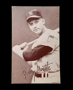 1947-66 Exhibits Mickey Mantle Early Autograph Style