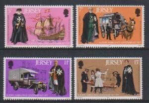 Jersey - 1977, St John Ambulance set - MNH - SG 175/8