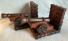 Vintage - Pair of Cannon Book Ends - all Wood - Den, Man Cave - Mid-Century?