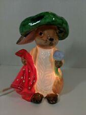 Beatrix Potter Peter Rabbit Benjamin Bunny Night Light Porcelain 1989 Schmid