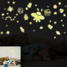 DIY Glow In The Dark Space Stars UFO Planet Rocket Luminous PVC Wall Sticker